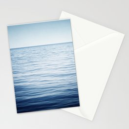 Blue Ocean Seascape, Dark Blue Sea Landscape Photography, Ocean Horizon Stationery Cards