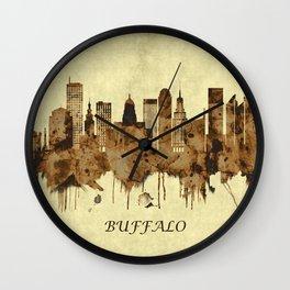 Buffalo New York Cityscape Wall Clock