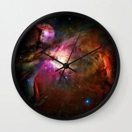 Orion Nebula Deep Space Telescopic Photograph Wall Clock