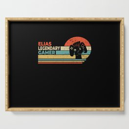 Elias Legendary Gamer Personalized Gift Serving Tray