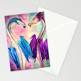 Watercolor Dragons Stationery Cards