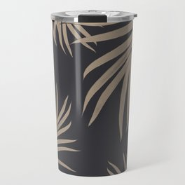 Palm Leaves Pattern Sepia Vibes #2 #tropical #decor #art #society6 Travel Mug