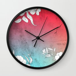 Collage Of City Flowers Wall Clock