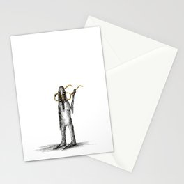 Monster with glasses Stationery Cards