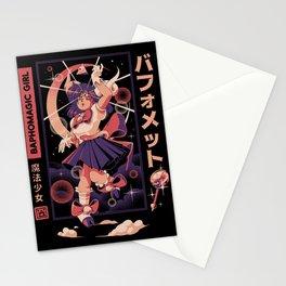 Baphomagic Girl Stationery Cards
