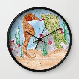 Seahorse Mafia-Zombiefoot Wall Clock