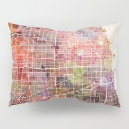Chicago map Pillow Sham