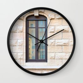 Two thin classic windows in France Wall Clock