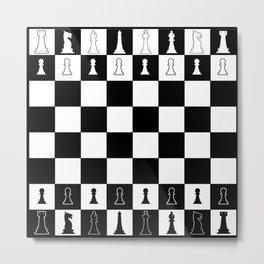 Chess Board Layout Metal Print