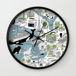 Seattle! Wall Clock