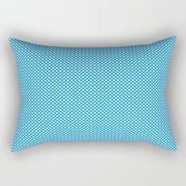 Pequeños cuadrados azules Rectangular Pillow