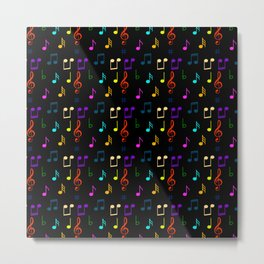 Colorful Music Notes Musician Musical Note Art  Metal Print