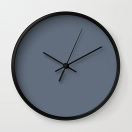 Simply Solid - Jet Grey Wall Clock