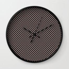 Black and Rose Smoke Polka Dots Wall Clock