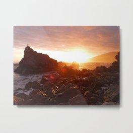 Big Sur's Rocky Shore Sunset Metal Print