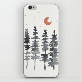 Nighttime Watercolor Forest iPhone Skin
