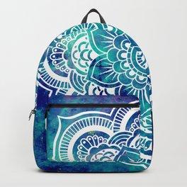 Galaxy Mandala Turquoise Teal Indigo Backpack