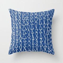 Blue Jazz Triangles Throw Pillow