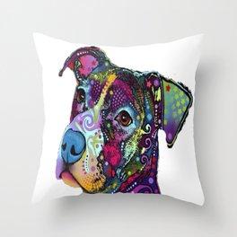 Colourful Pit Bulls, Pit Bulls Gift/ pitbull lover, Gift for pitbull lover - Dog Lover Gift Throw Pillow