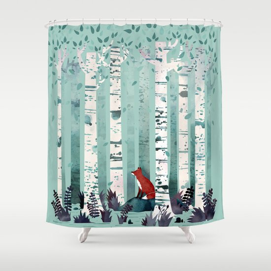 The Birches Shower Curtain By Littleclyde Society6