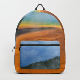 Yellowstone National Park Grand Prismatic Spring Nature Photography Backpack