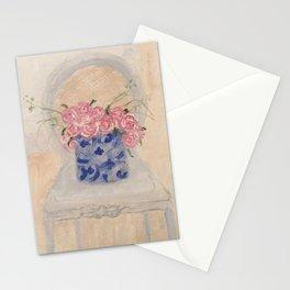 Ginger Jar Hot Pink Roses Stationery Cards