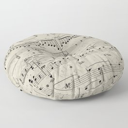 I Love Piano Music Floor Pillow