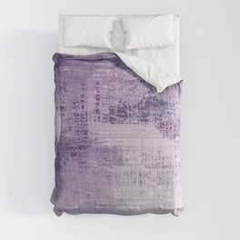 Dreamscape in purple:  an organic, modern, abstract art print design Comforters