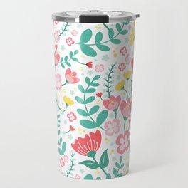 Flower Lovers - White Travel Mug
