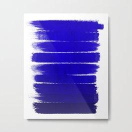 Shel - abstract painting painterly brushstrokes indigo blue bright happy paint abstract minimal mode Metal Print
