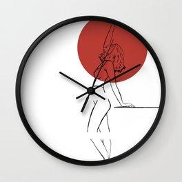 Female 3 Wall Clock