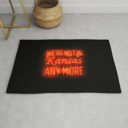WE'RE NOT IN KANSAS ANYMORE - Neon Sign Rug