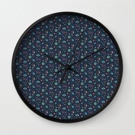Lets take a walk (it's dark) pattern Wall Clock
