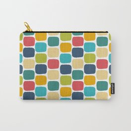Muiti-Colored Squares Carry-All Pouch