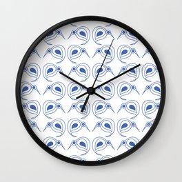 Cornflower blue kiwis Wall Clock