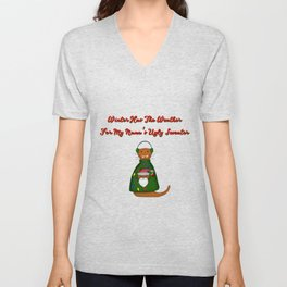 Oliver The Otter In Nana's Ugly Sweater with Words Unisex V-Neck
