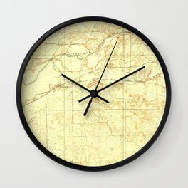 CA Clements 296004 1909 31680 geo Wall Clock