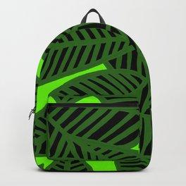 Green leaves on Green Backpack