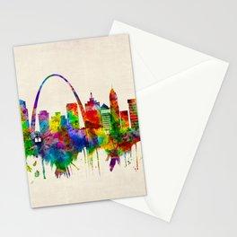 St. Louis Missouri Skyline Stationery Cards
