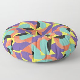 Geometric Memphis - Modern Memphis Milano tropical minimal tribal african geo summer scandinavian Floor Pillow