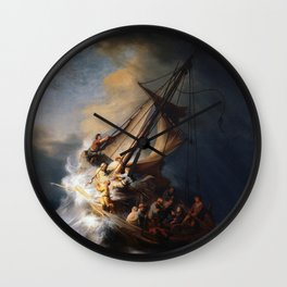 The Storm on the Sea of Galilee, Rembrandt Wall Clock