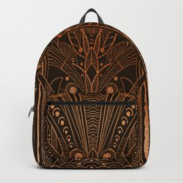 GREEK REVIVAL - BROWN WITH COPPER Backpack