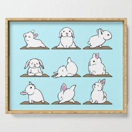 Bunnies Yoga Serving Tray