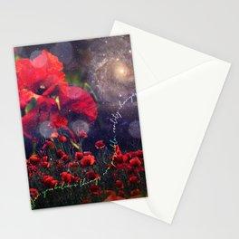 Celestial Poppy Field Stationery Cards