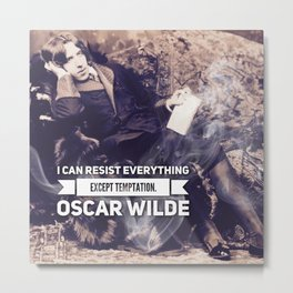 Oscar Wilde, Temptation Metal Print