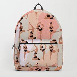 Yoga girls pattern Backpack