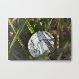 money on grass Metal Print