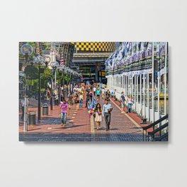 Cockle Bay Wharf, Darling Harbour, Sydney Metal Print