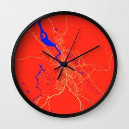 Launceston - Australia Retro City Map Wall Clock