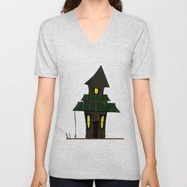 Haunted House Unisex V-Neck